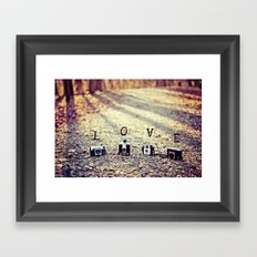 Meeting in the Forest - Vintage Camera Love Framed Art Print