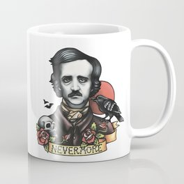 Edgar Allan Poe Raven Nevermore Coffee Mug