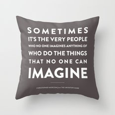 Imagine - Quotable Series Throw Pillow