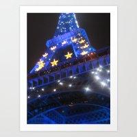Black and Blue in Paris (2008a) Art Print