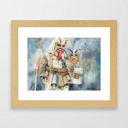 Kukeri, Surva 2019, Ethno Folklore Tradition in Bulgaria Framed Art Print