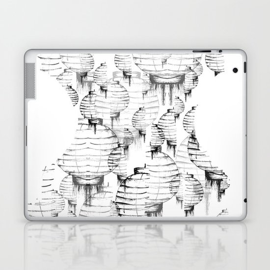 Lantern - white Laptop & iPad Skin