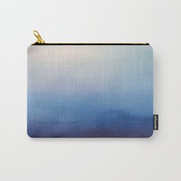 Ocean Mist - Abstract Watercolor Painting Blue and White Carry-All Pouch