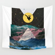 Man on the Moon Wall Tapestry