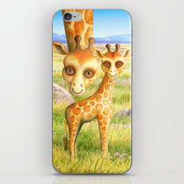 Giraffe and Calf iPhone Skin
