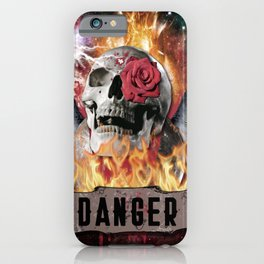 DANGER ROCK SKULL iPhone Case