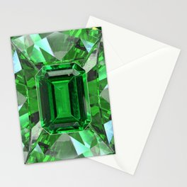 EMERALD GREEN MAY BIRTHSTONES ART Stationery Cards