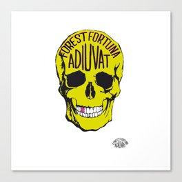 Fortune Favours The Brave. Canvas Print