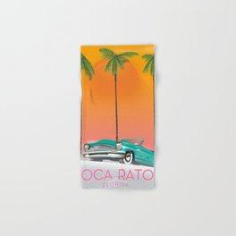 Boca Raton Florida travel poster Hand & Bath Towel
