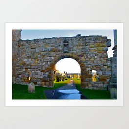 Scottish Graveyard  Art Print