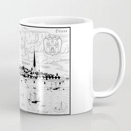 Riga 1544 (black on white) Coffee Mug