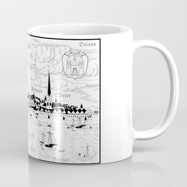 Riga 1544 (black on white) Coffee Mug