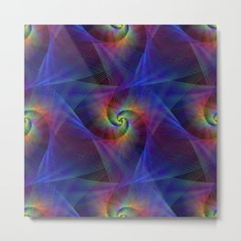 Fractal magic lights Metal Print