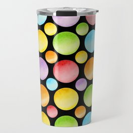 Candy Rainbow Polka Dots Travel Mug