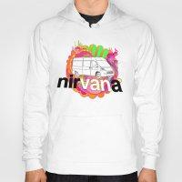 nirvana Hoodies featuring nirVANa by nick inglis