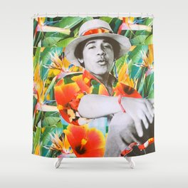 Too Tropical for America Shower Curtain