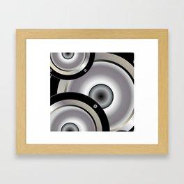Speaker Music Background Framed Art Print