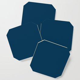Prussian Blue - solid color Coaster