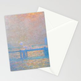 """Claude Monet """"Charing Cross Bridge, The Thames"""" (1903) Stationery Cards"""