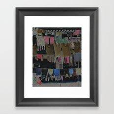 Hanging Laundry pt2  Framed Art Print