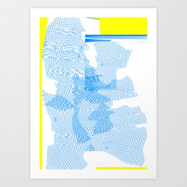glitch check Art Print