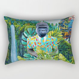 Gorilla in the jungle Rectangular Pillow