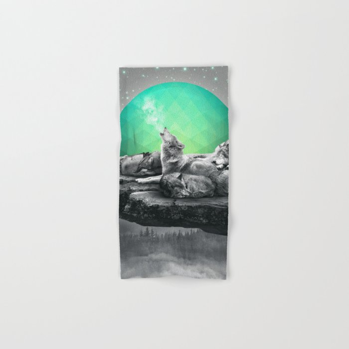 Echoes of a Lullaby / Geometric Moon Hand & Bath Towel