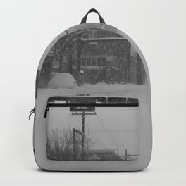 Snow Storm in Downtown - One Way Backpack