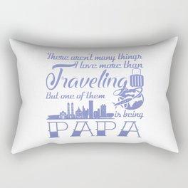Traveling Papa Rectangular Pillow