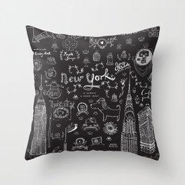 New York is always a good idea! Throw Pillow