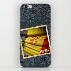 Grunge sticker of Andorra flag iPhone & iPod Skin