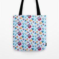 90s Tote Bags featuring Sweet 90s by Ana Makes Art