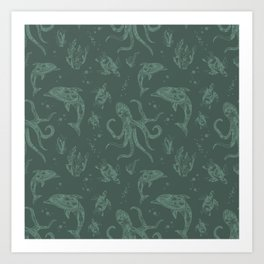 Shafted Sea Art Print