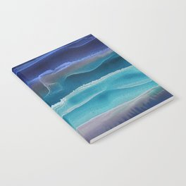 Alcohol Ink Seascape 3 - Sea at Night Notebook