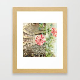 A Night At The Theatre Framed Art Print
