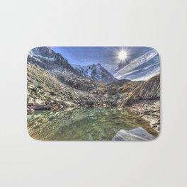 Mont Blanc Glacier Lake Bath Mat