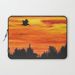Sunset sky with bird Laptop Sleeve