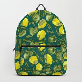 Limes and Lemons inside vintage pattern Backpack