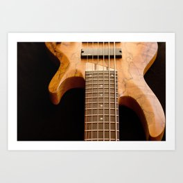 Music is a Moral Law ~ Bass Guitar Art Print