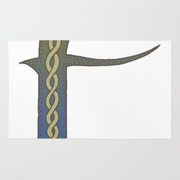 Celtic Knotwork Alphabet - Letter F Rug