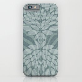 Zebra pattern with leaves iPhone Case