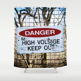 High Voltage Shower Curtain