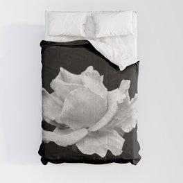 White Rose On Black Comforters