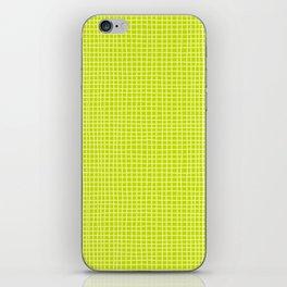 Fresh Lime Grid iPhone Skin