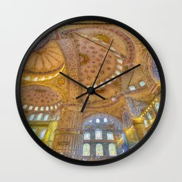 Blue Mosque Istanbul Art  Wall Clock