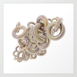 Gold Rings Cluster Art Print