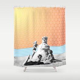 Winter in Paradise Shower Curtain