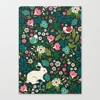 friends Canvas Prints featuring Forest Friends by Anna Deegan