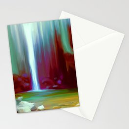 Secret Waterfall Painting Stationery Cards