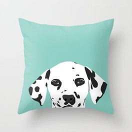 Dalmatian cute puppy dog black and white mint pastel gender neutral pet owner gifts love animals Throw Pillow